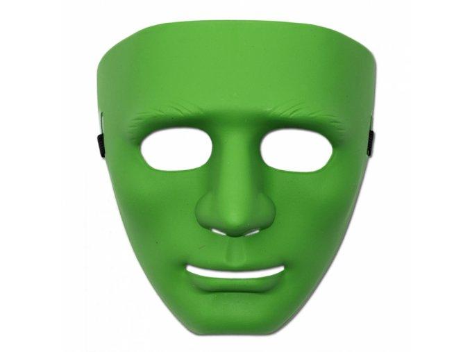 Maska obličej zelená