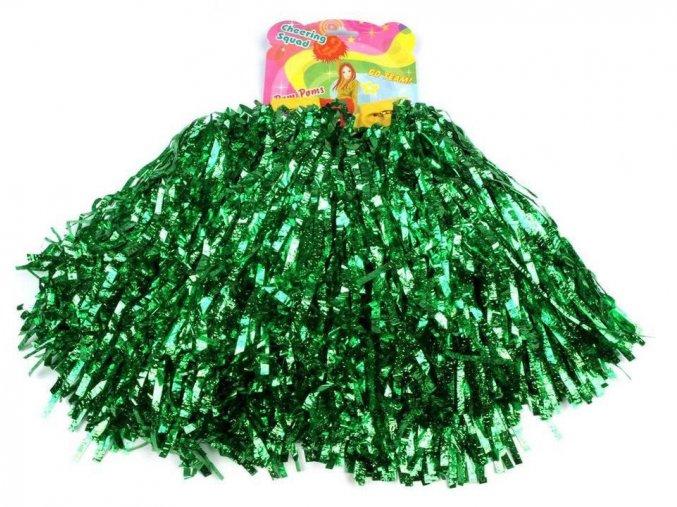 zelené pompony pro roztleskávačky