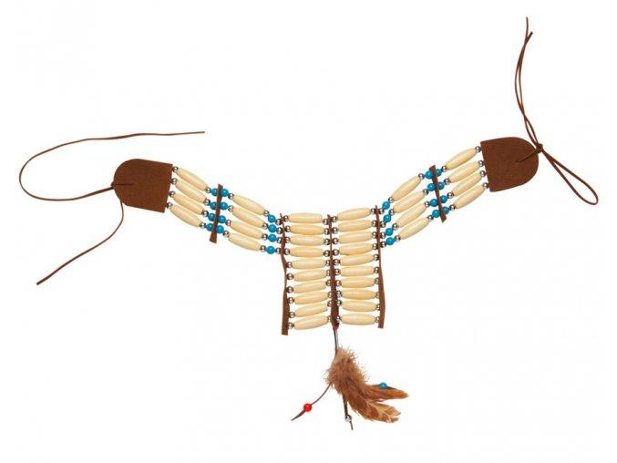 Indiánský náhrdelník dřevěný