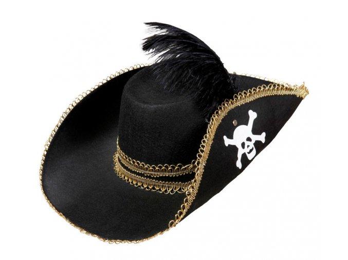 Elegantní pirátský klobouk s brkem