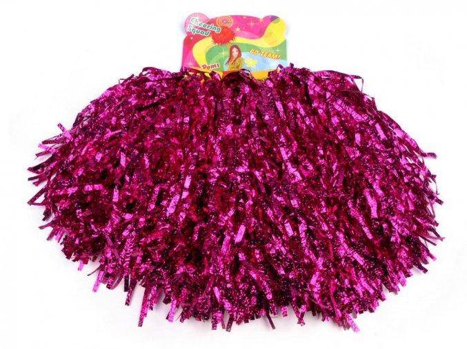 růžové pompony pro roztleskávačky