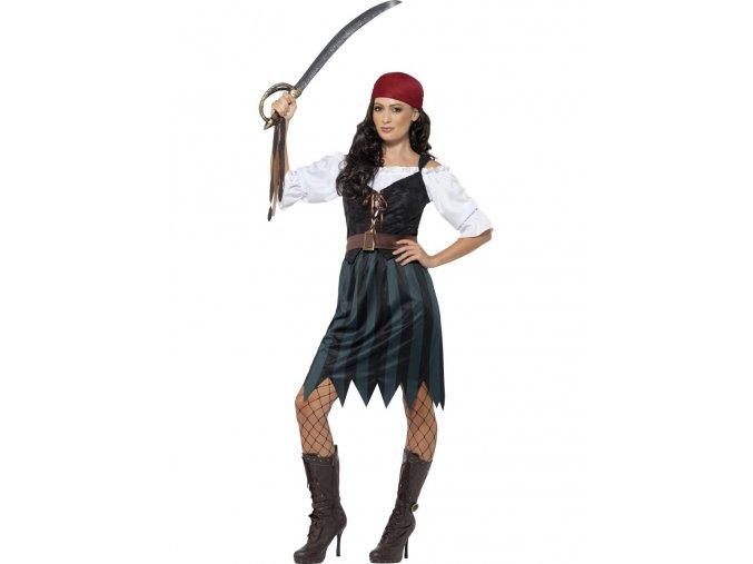 Dámský kostým pirátka Deckhand