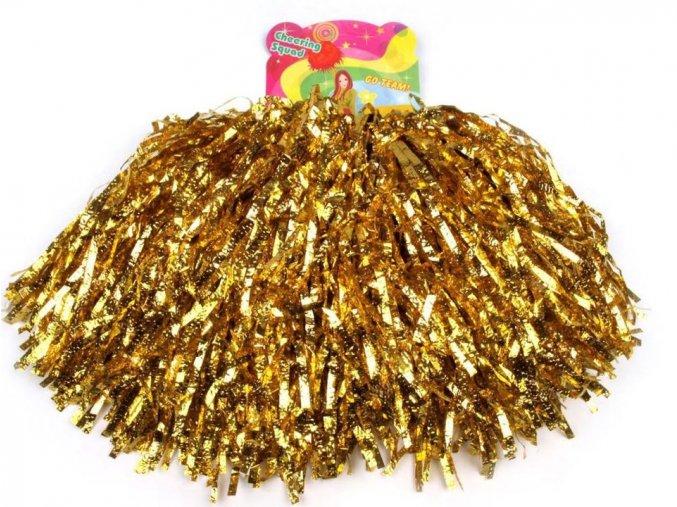 Pompony zlaté 2ks