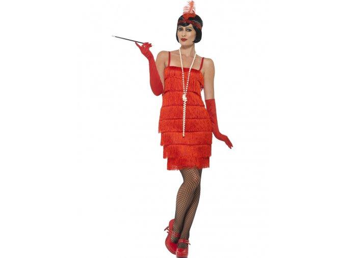 Dámský kostým Flapper červený (krátké šaty)