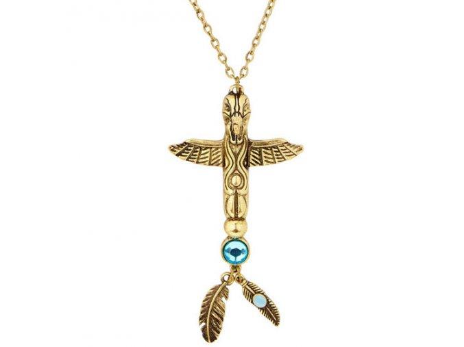 Indiánský náhrdelník Totem