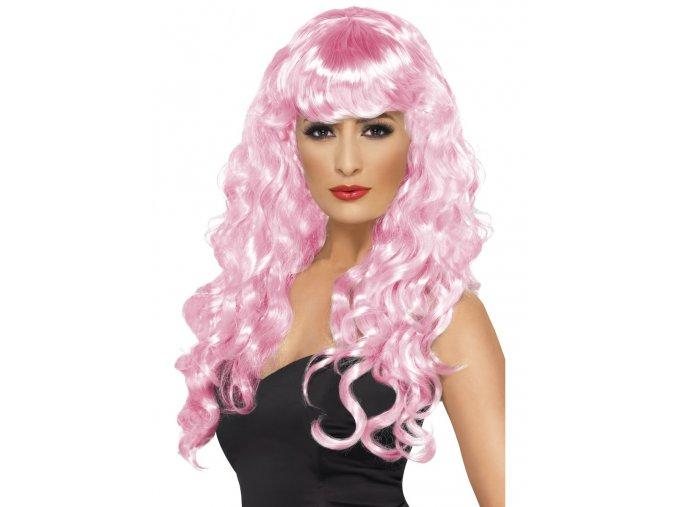 Dámská paruka Lollipop růžová