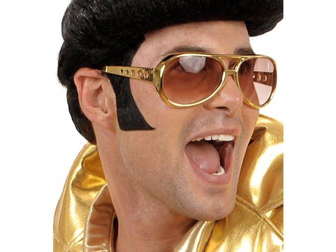 Černé samolepící kotlety Elvis