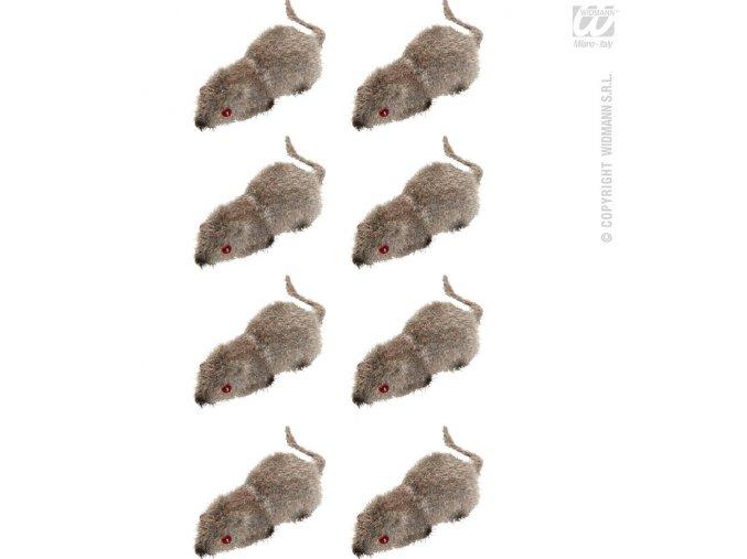 Dekorace Myši 8ks
