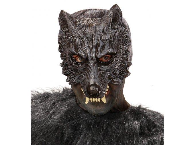 Latexová polomaska Vlk