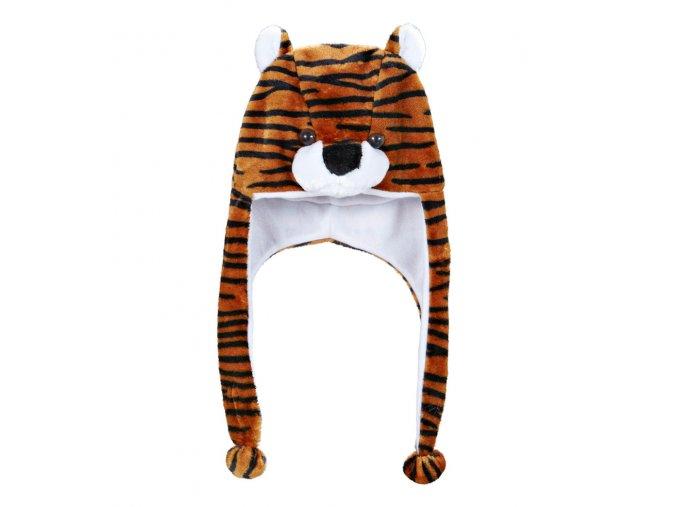 Zvířecí čepice Tygr