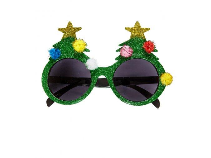 Party brýle Vánoční stromeček