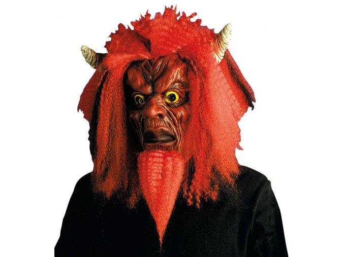 Maska čerta s parukou Lucifer