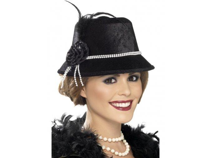 Retro klobouk s perlami
