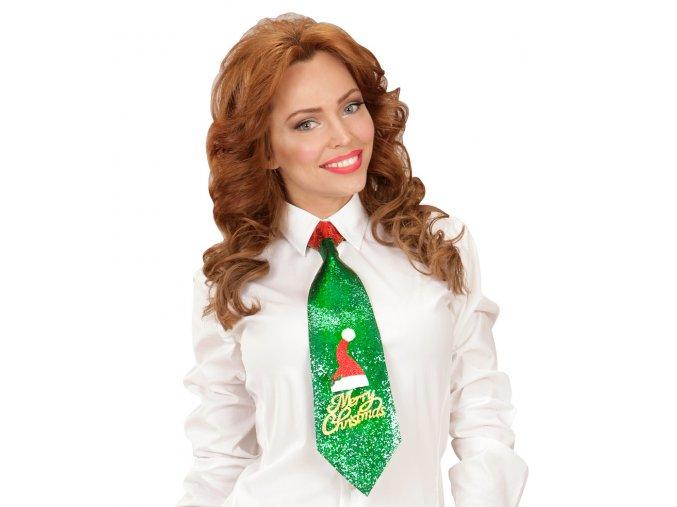 Vánoční kravata zelená Xmas
