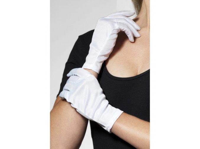 Bílé rukavice krátké