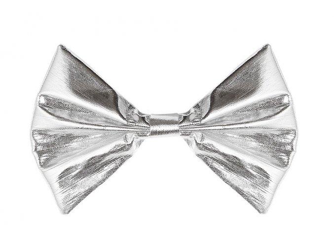 Pánský party motýlek stříbrný