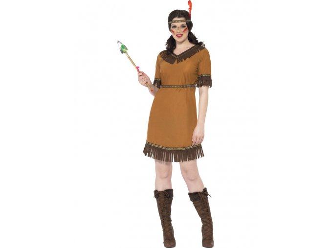 Kostým Indiánka (s krátkým rukávem)