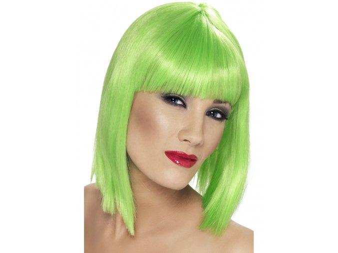 Dámská paruka Mikádo zelená