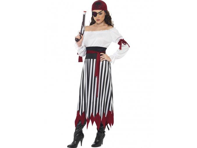 Dámský kostým Pirátka (dlouhé šaty)