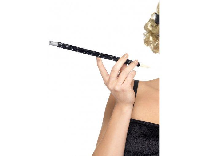 Cigaretová špička s černými flitry