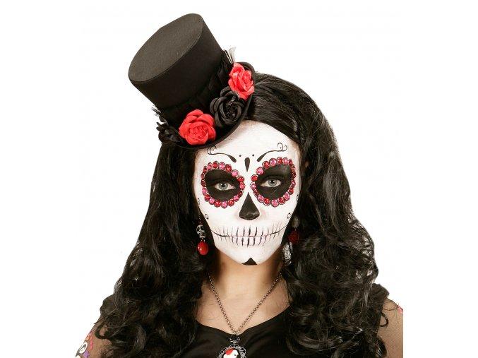 Klobouk s růžemi Sugar Skull deluxe