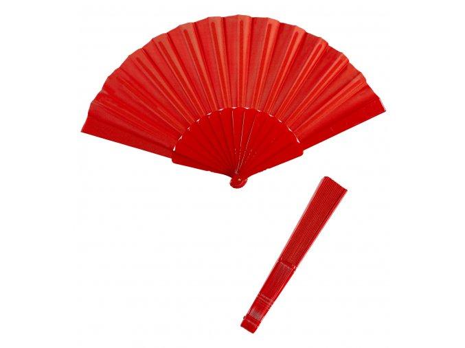 Červený vějíř látkový