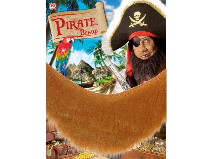 Hnědé vousy pirát