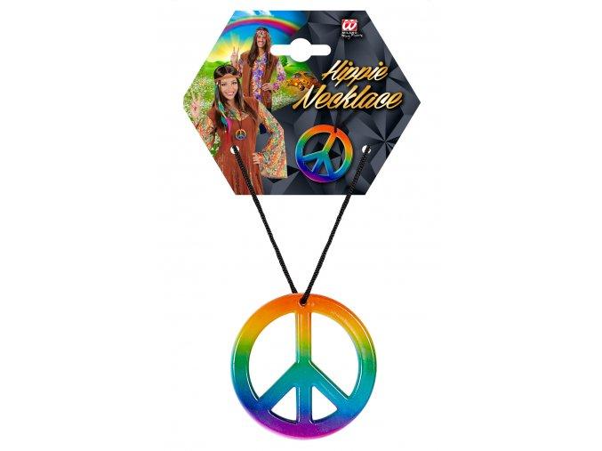 Hippies náhrdelník duhový