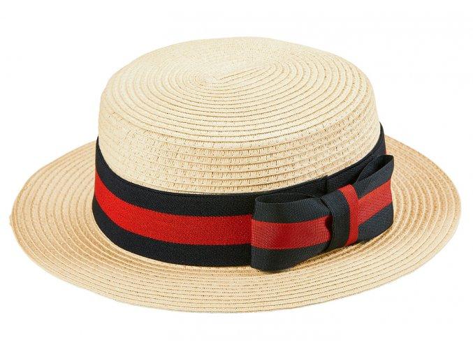 Slaměný klobouk 20.léta Boater