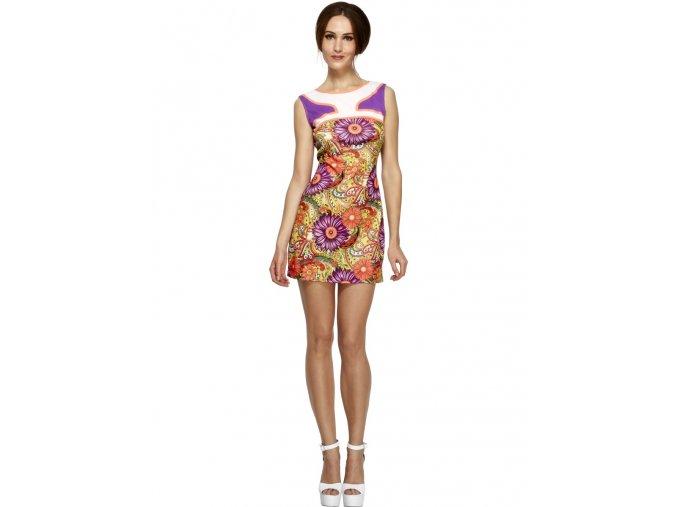 Dámské šaty Hippies fialové