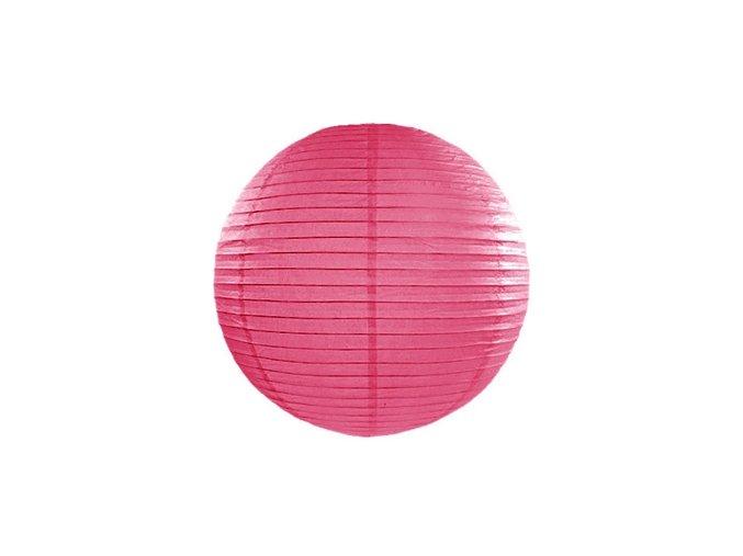 Kulatý lampion růžový (fuchsia), 20cm