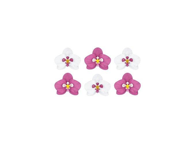 Havajská dekorace Orchidej (6ks)