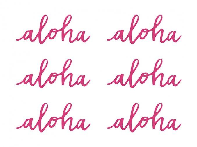 Havajská dekorace Aloha (6ks)