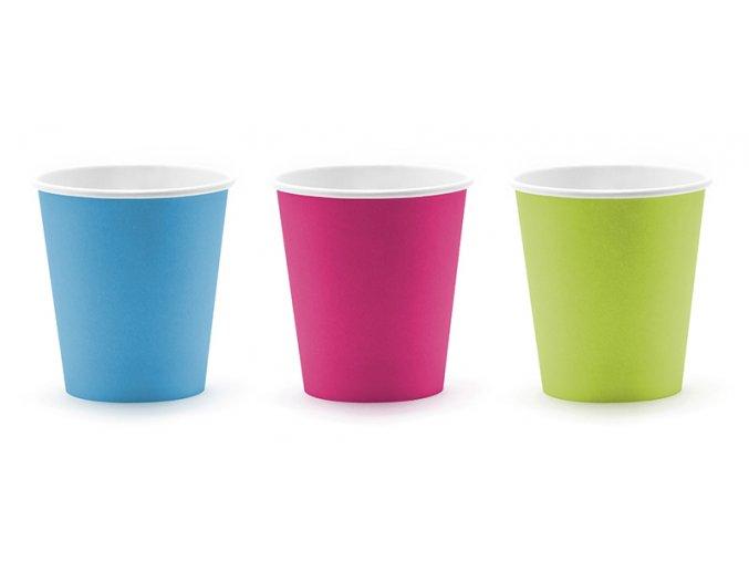 Papírové kelímky (tři barvy) 6ks