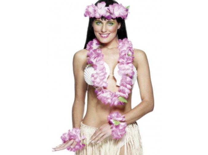Havajský set bílo-růžový