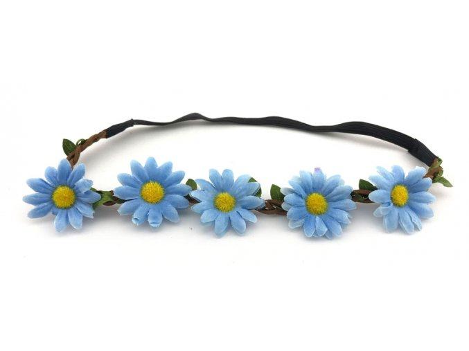 Květinová čelenka Kopretiny modré