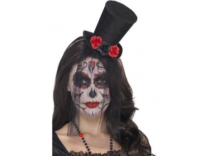 Klobouk s růžemi Sugar Skull