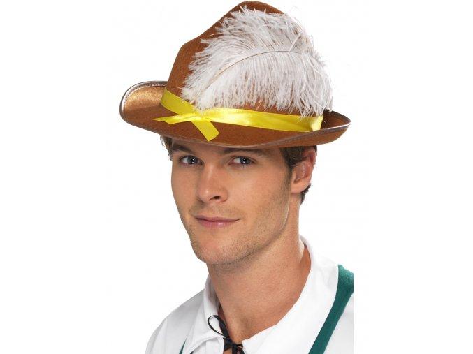 Bavorský klobouk s brkem