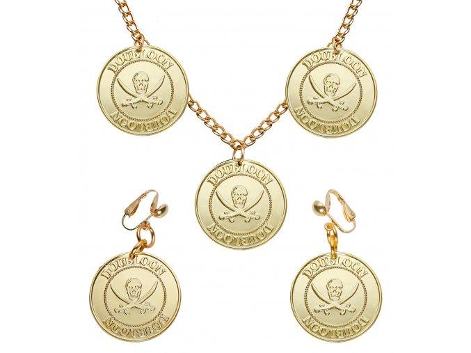Pirátské šperky zlaté mince
