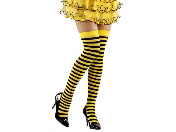 Žlutočerné pruhované punčocháče Včelka