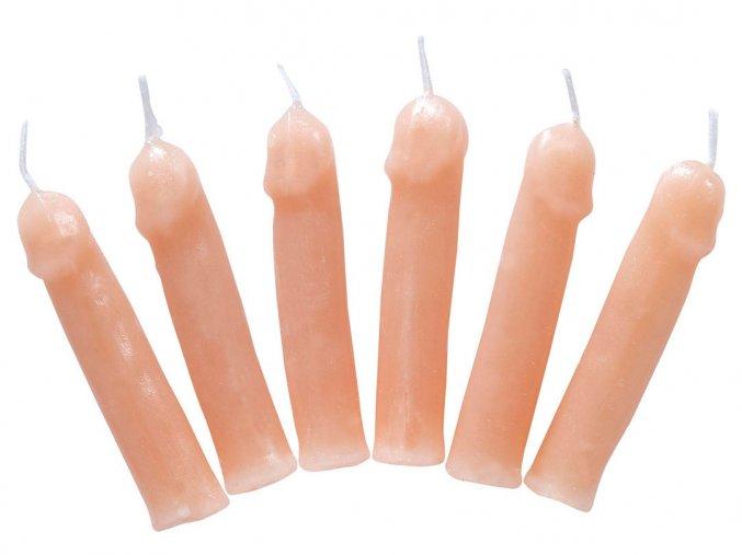 Svíčky penis (6ks)