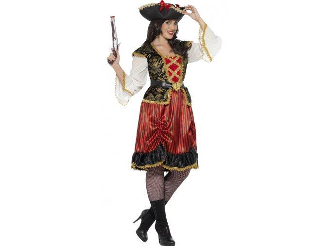 Dámský luxusní kostým pirátka Kapitánka