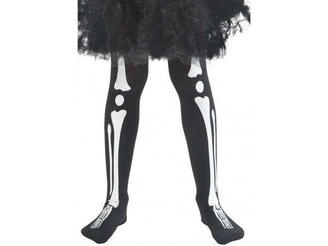 Dětské halloween punčocháče Kostlivec