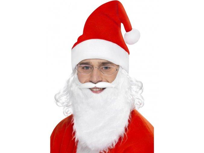 Sada Santa (vousy, čepice, brýle)