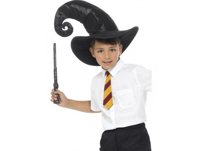Sada Harry Potter - kravata, klobouk, hůlka