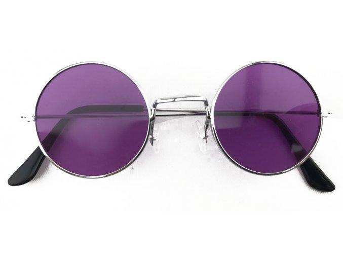 Hippie brýle lenonky fialové