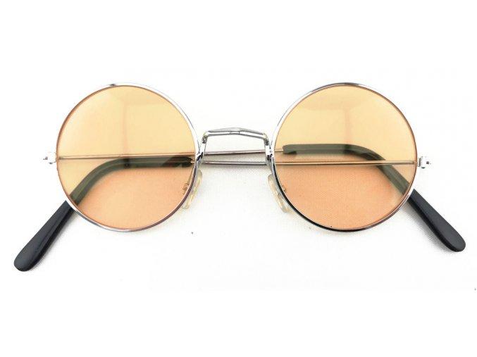 Hippie brýle lenonky oranžové