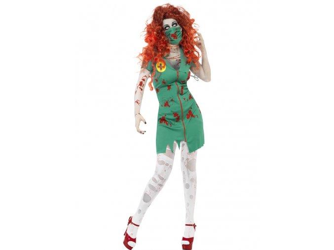 Dámský kostým Zombie sálová sestra