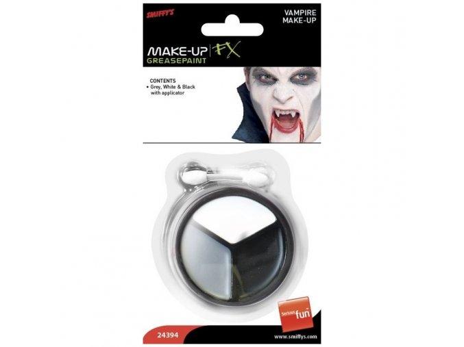 Upíří make-up (bíla, šedá a černá)