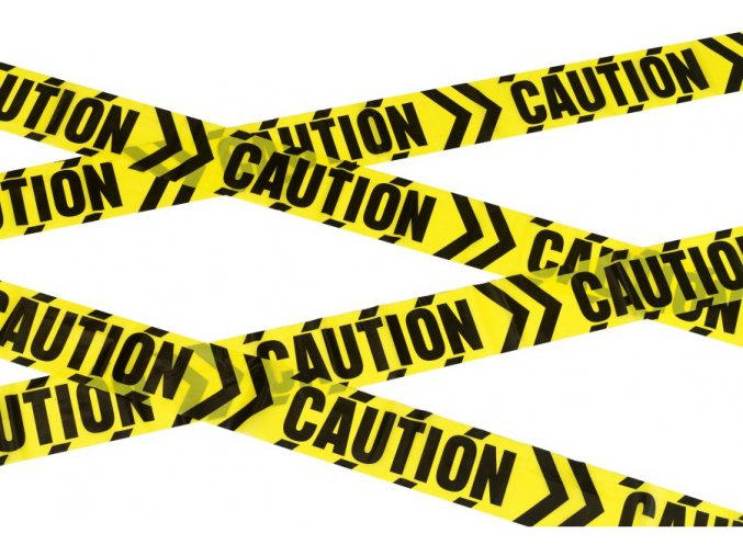 Žlutá výstražná páska Pozor 6m